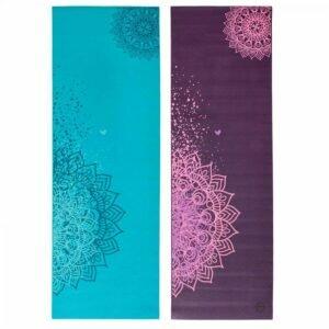 Tapete de yoga estampado Leela Mandala Design - 4.5mm PVC ecológico 1