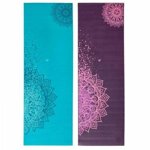 Tapete de yoga estampado Leela Mandala Design - 4.5mm PVC ecológico