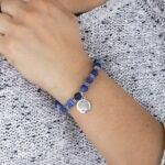 Pulseira Mala Ágata Azul