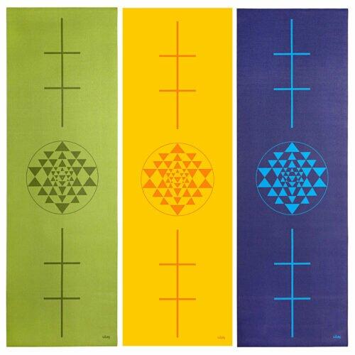 Tapete de yoga estampado Leela Yantra – 4.5mm PVC ecológico