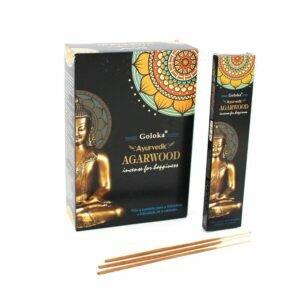 Incenso Massala Buddha Agarwood Goloka 12