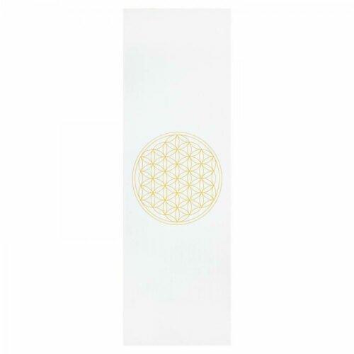 Tapete de yoga estampado Leela Flor da Vida – 4.5mm PVC ecológico