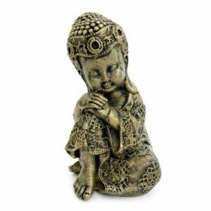 Estátua Buddha Criança Descansando - Cabeça no joelho 5