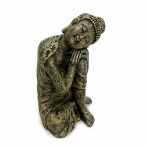 Estátua Buddha Descansando - Cabeça no joelho 9
