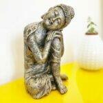 Estátua Buddha Descansando - Cabeça no joelho