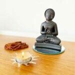 Estátua Buddha Ensinamento - Dharmachakra Mudra