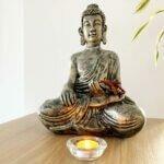 Estátua Buddha Tocando a Terra - Bhumisparsha Mudra