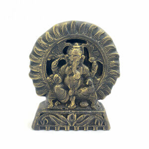 Estátua Ganesha Pequena - Bronze 8