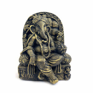 Estátua Ganesha Pequena - Bronze 9