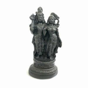 Estátua Shiva e Parvati - preto 15